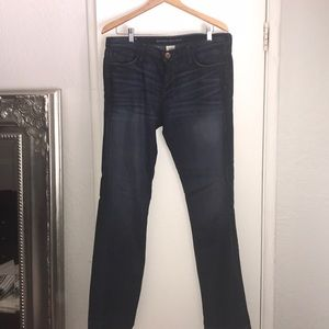 Banana Republic dark wash straight leg jeans
